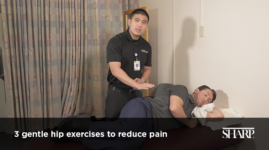 3 gentle stretches to reduce hip pain (video)