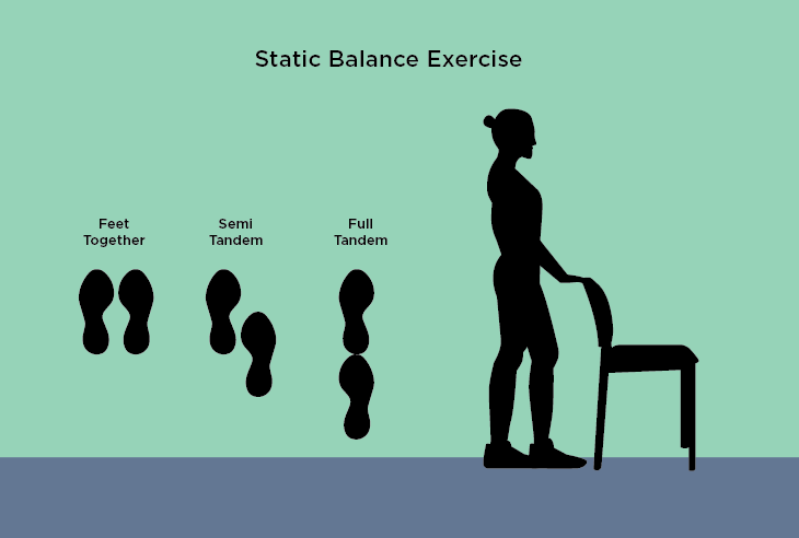 Static balance exercise