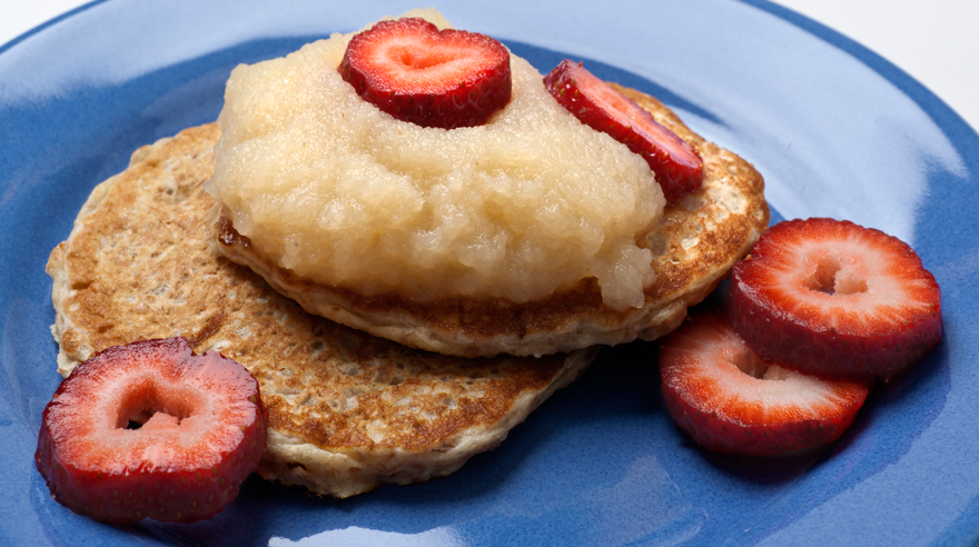 Applesauce pancakes (recipe)