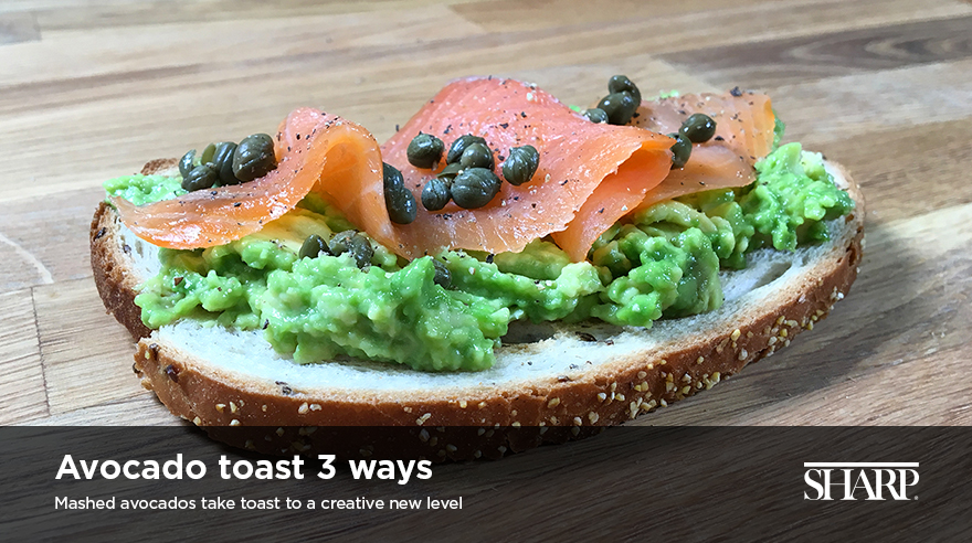 Avocado toast 3 ways (recipe)