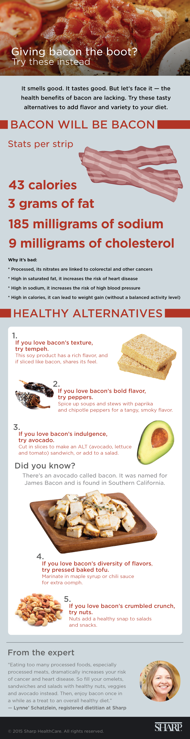Bacon alternatives