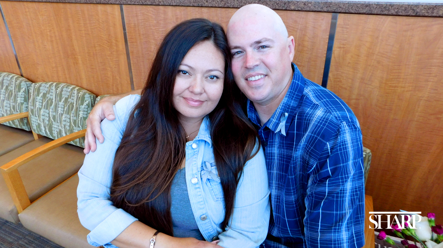 Joe and Claudia Whelpley are closer than they've ever been, after Claudia helped Joe through cancer treatment at Sharp Chula Vista Medical Center.