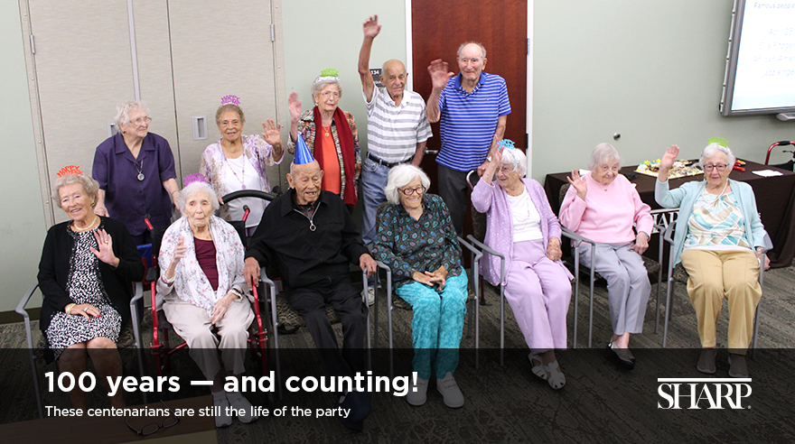 Centenarians are still the life of the party (video)