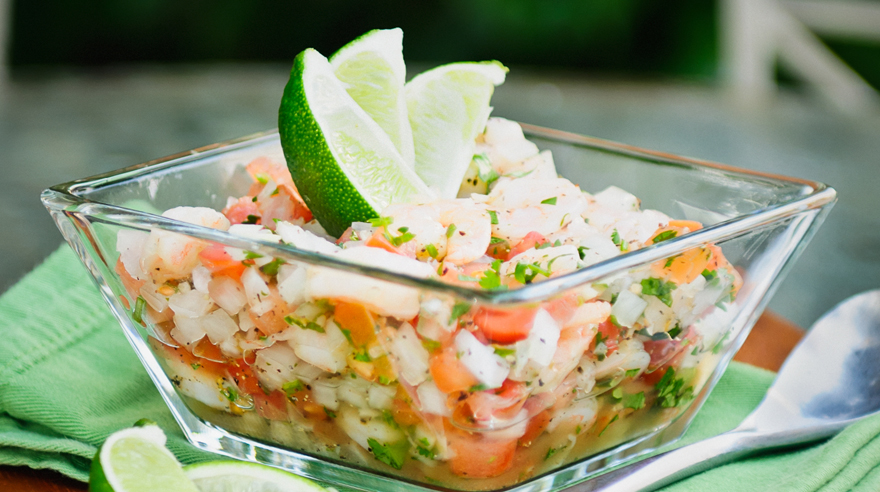Quick and easy shrimp ceviche recipe