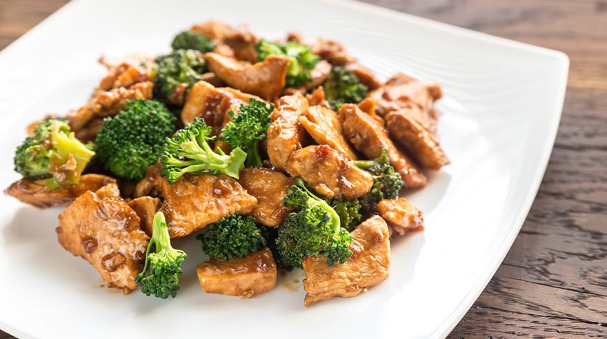Chicken and broccoli stir-fry (recipe)