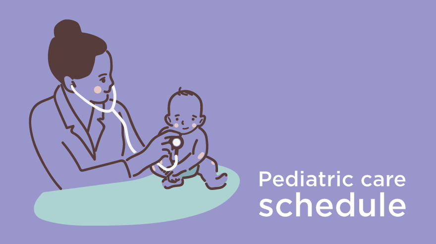 Pediatric care schedule (infographic) newsroom