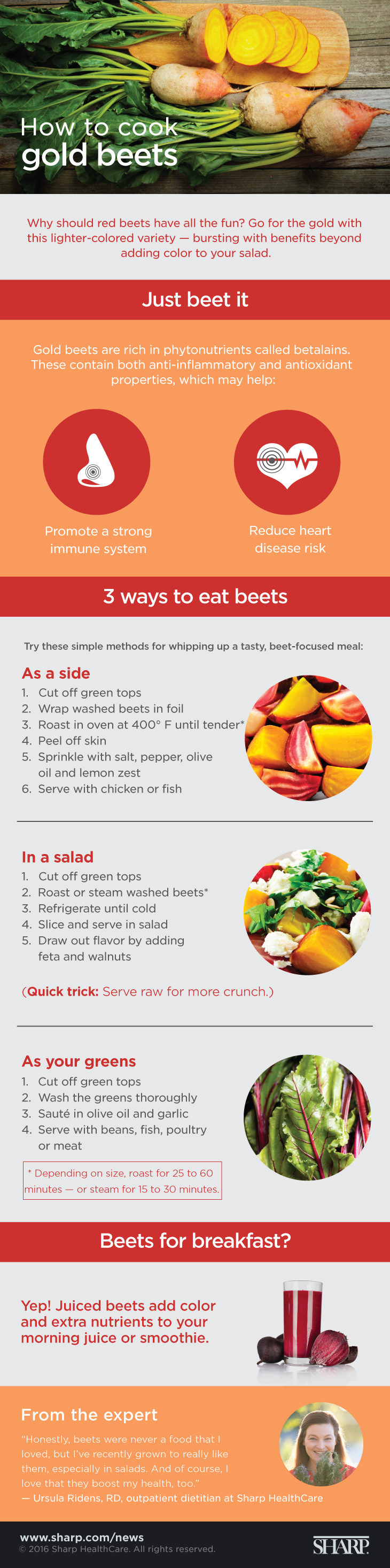Gold beets infographic