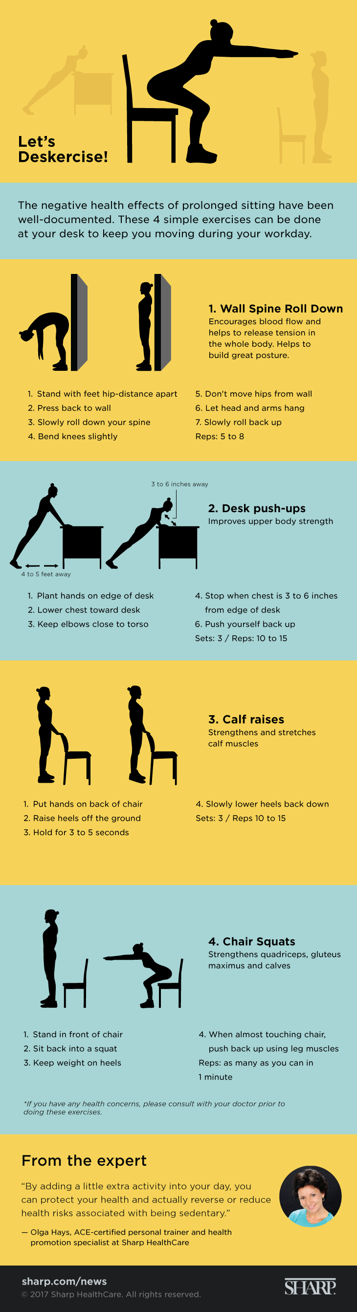 Let's deskercise