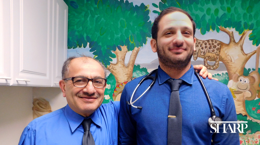 Sharp father and son pediatricians Drs. Mohammed and Ahmad Bailony.