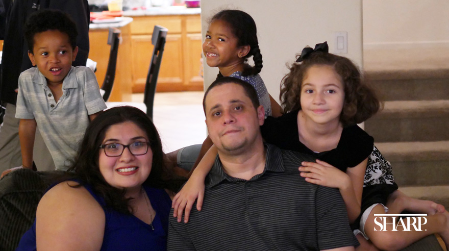 Victor nearly lost his leg and his life in a medical emergency 6 years ago. When the COVID-19 pandemic hit, his wife decided it was her family's turn to pay back their Sharp Chula Vista health care heroes.