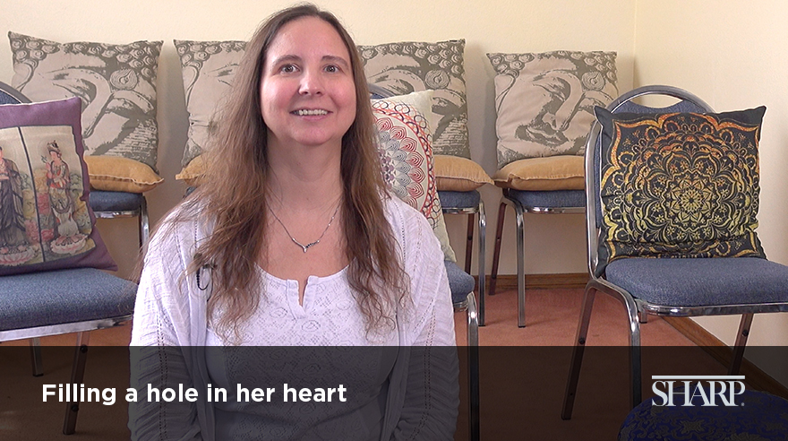 Filling a hole in her heart (video)