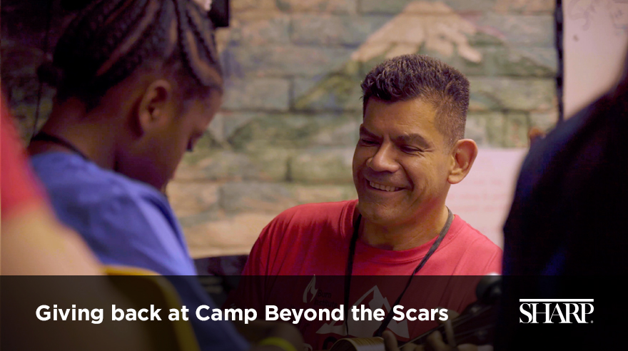 Giving back at Camp Beyond the Scars (video)