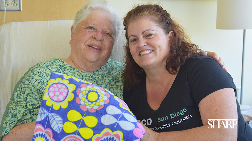 Blankets provide a 'big hug' for patients