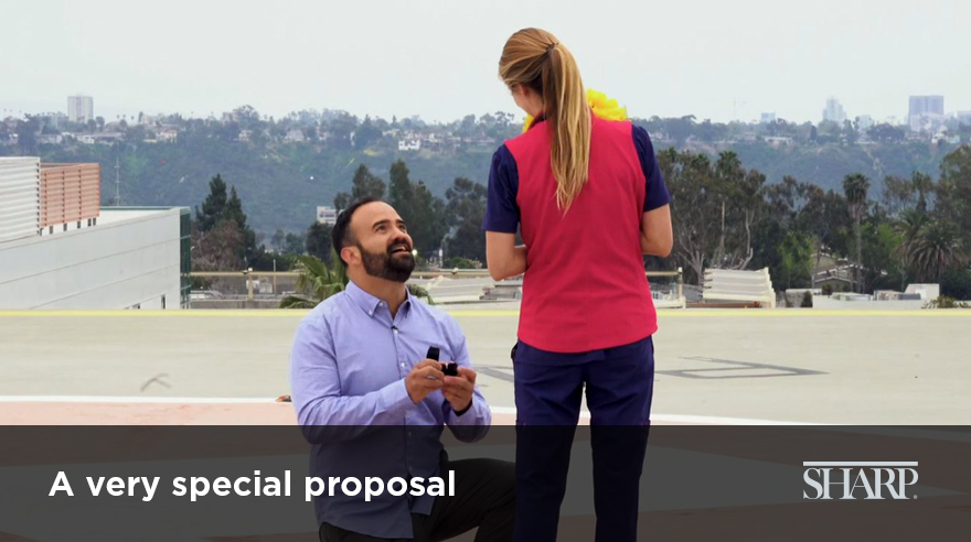 A very special proposal (video)