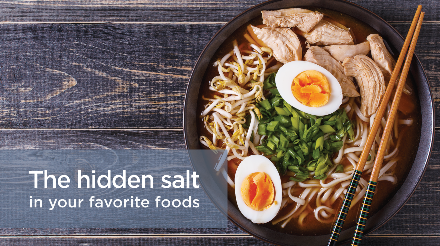 The hidden salt in your favorite foods (infographic)