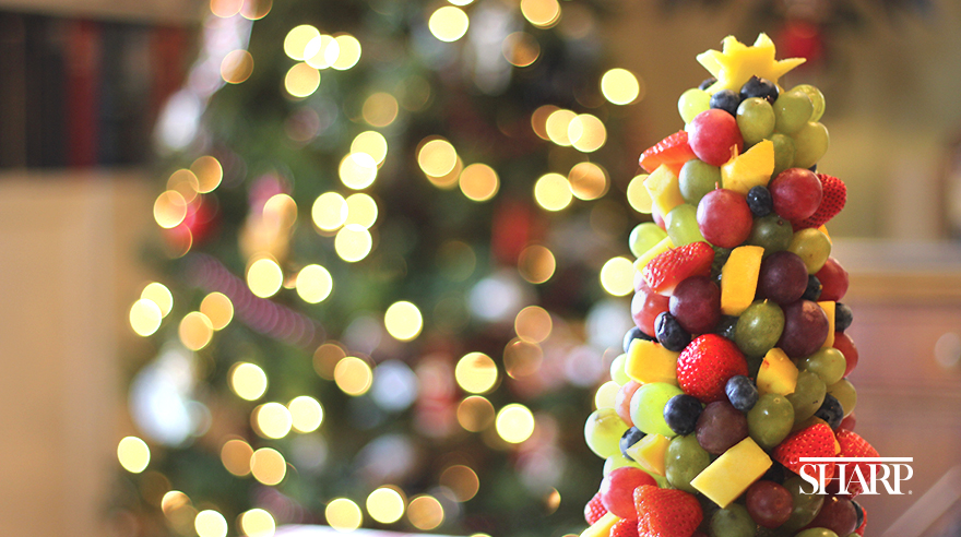 Holiday fruit and veggie trees