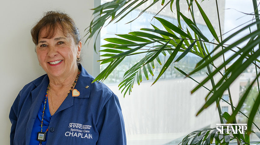 What does a hospital chaplain do?
