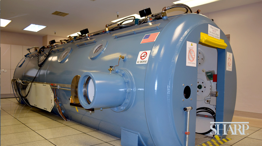 Hyperbaric chamber at Sharp Grossmont Hospital