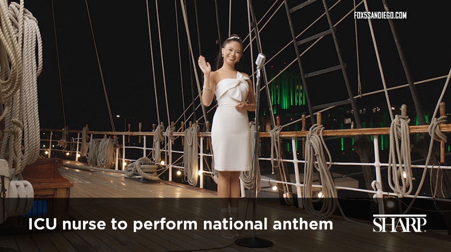 "Keena Mapanao on the Star of India singing the National Anthem for ""Big Bay Boom 2020"""