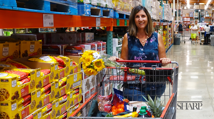 A shopping trip is a milestone on Tara's recovery from cancer-related hearing loss.