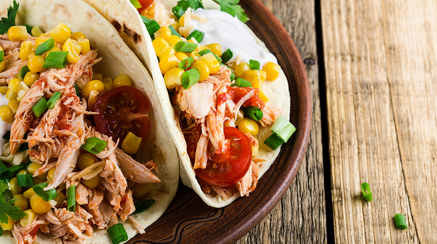 Pressure cooker shredded chicken tacos (recipe)