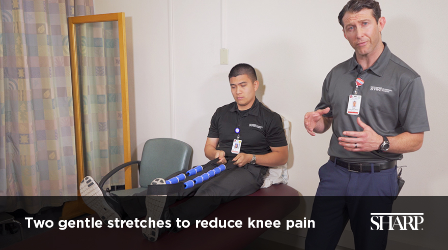 Two gentle stretches to reduce knee pain (video)