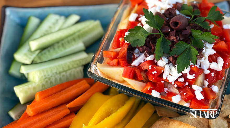 Mediterranean seven-layer dip (recipe)