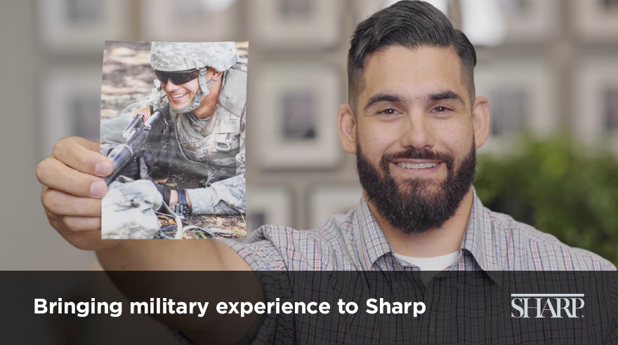 Bringing military experience to Sharp (video)