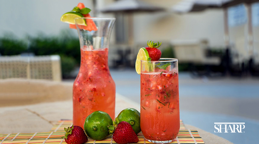 Strawberry watermelon mojito mocktail (recipe)