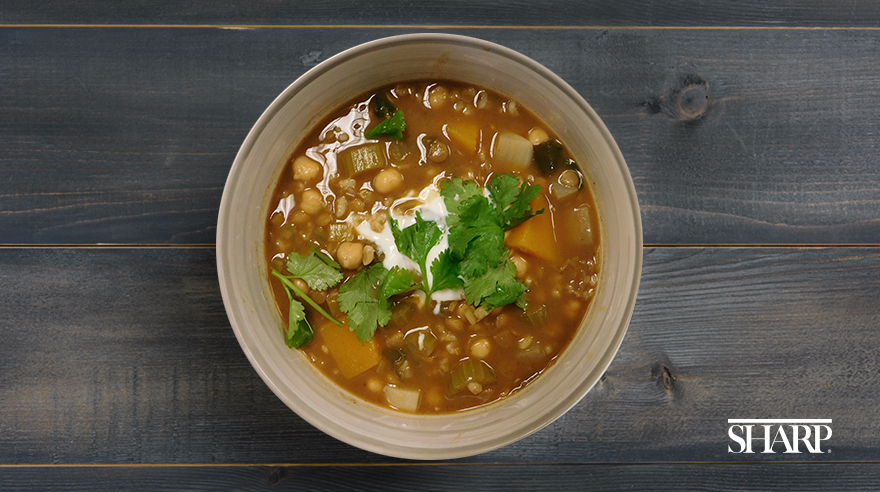 Hearty North African bean stew (recipe)