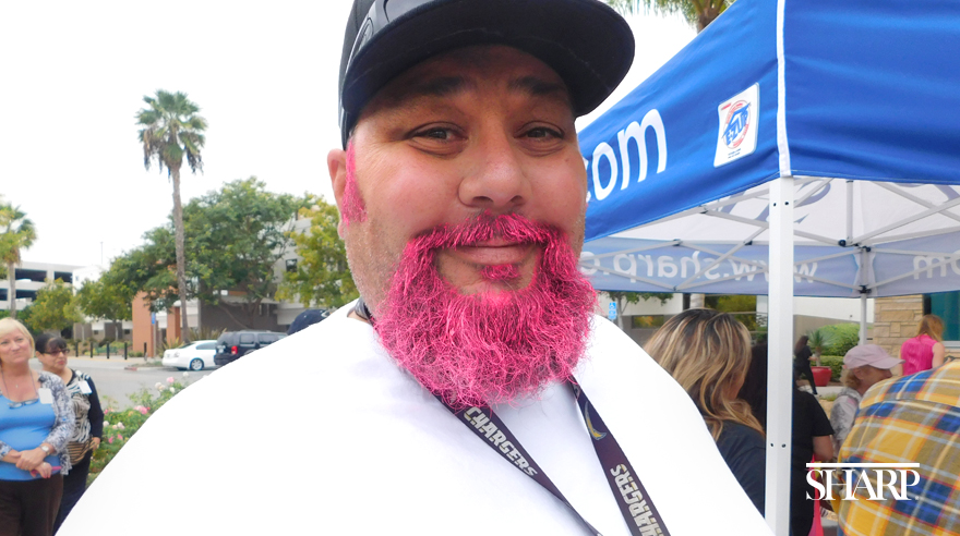 Men 'go pink' for breast cancer awareness
