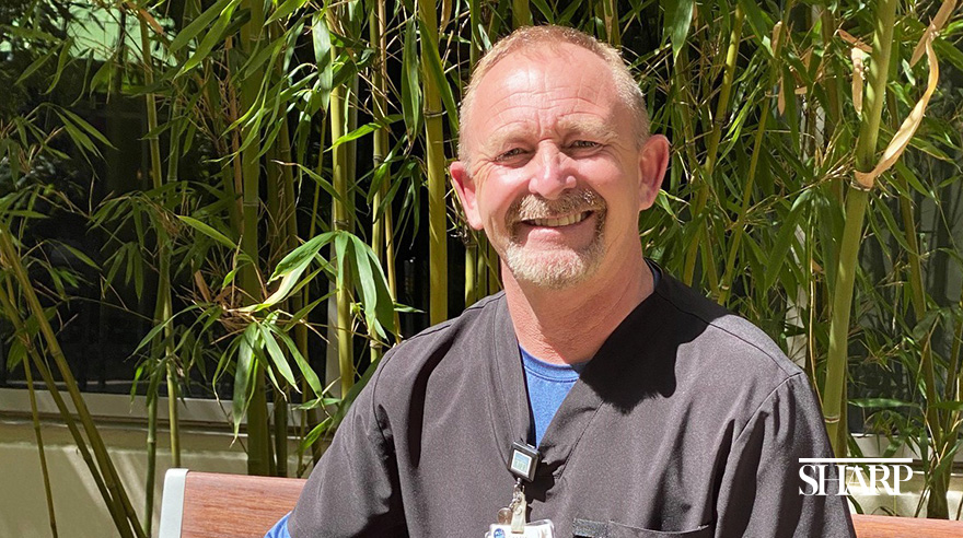 Respiratory therapist Malcolm Scott-Telford has been working at Sharp since 2012.