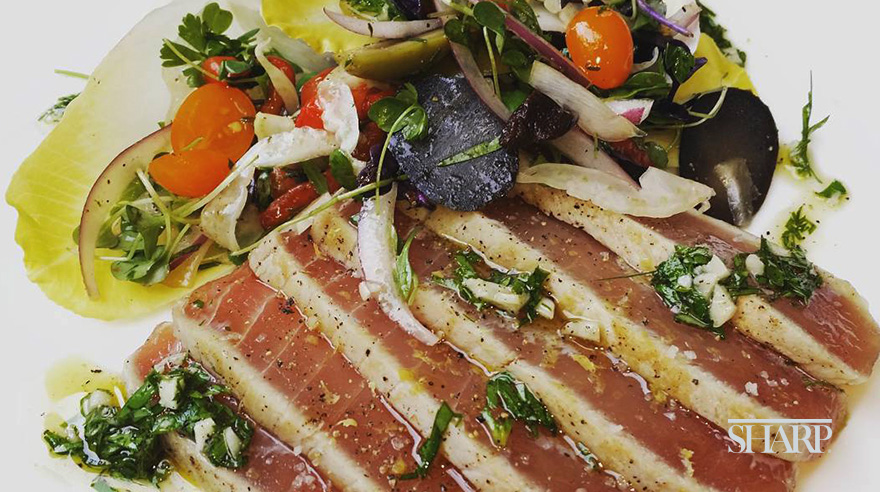 Seared ahi tuna and endive salad