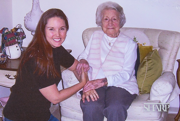 Corinne with her grandmother