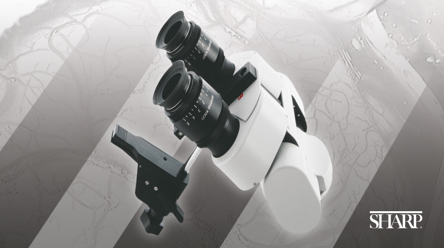 Microscope for brain aneurysm surgery