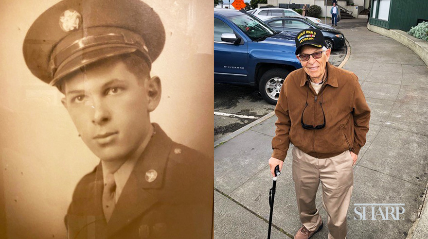 At age 94, WWII vet Seymour Schpoont looks forward to continue living a full life after a traumatic fall.