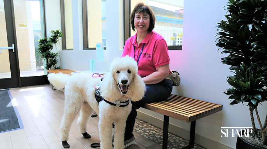 Sharp Coronado volunteer always willing to lend a paw