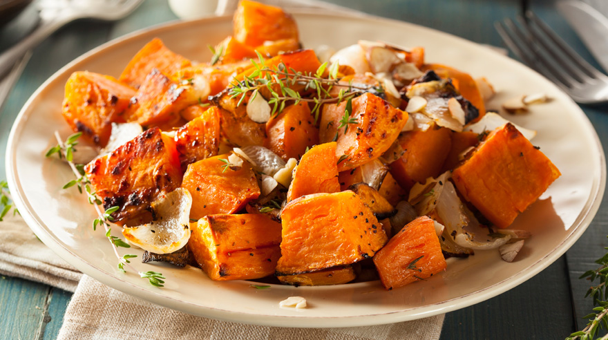 Glazed sweet potatoes (recipe)
