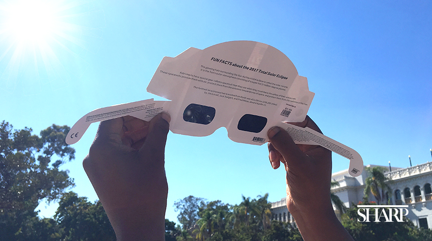Protect your eyes when viewing the solar eclipse