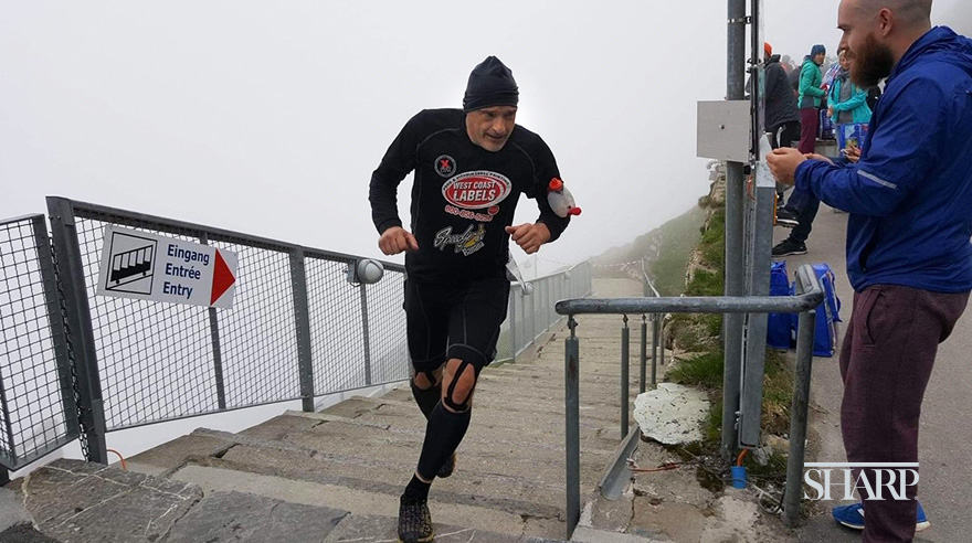 "Zivadin ""Z"" Zivkovic at the Niesen Staircase Run in the Swiss Alps"