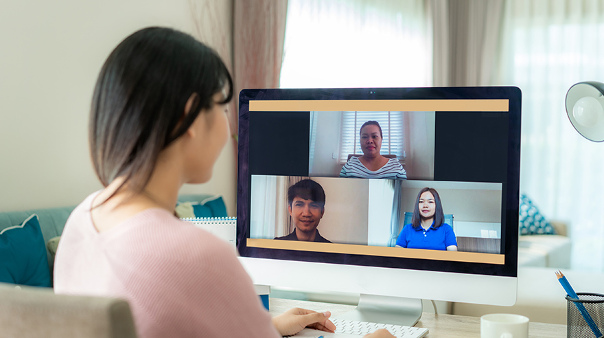 Using video calls to keep in touch during social distancing