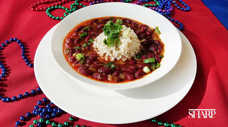 Vegetarian red beans and rice (recipe)