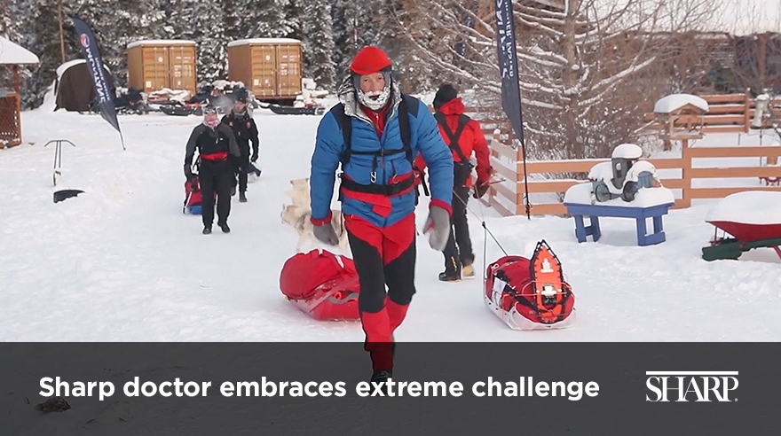 Sharp doctor embraces extreme challenge (video)