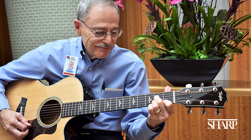 Hospital volunteer turns talent into healing