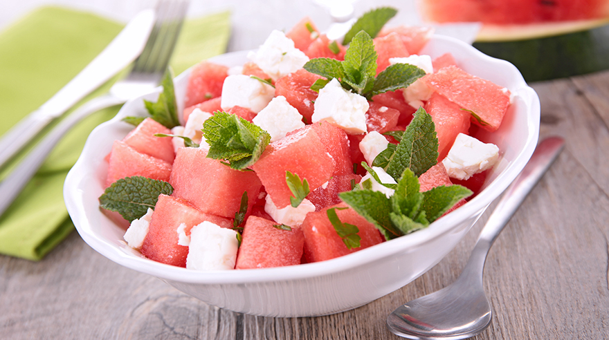 Watermelon salad (recipe)