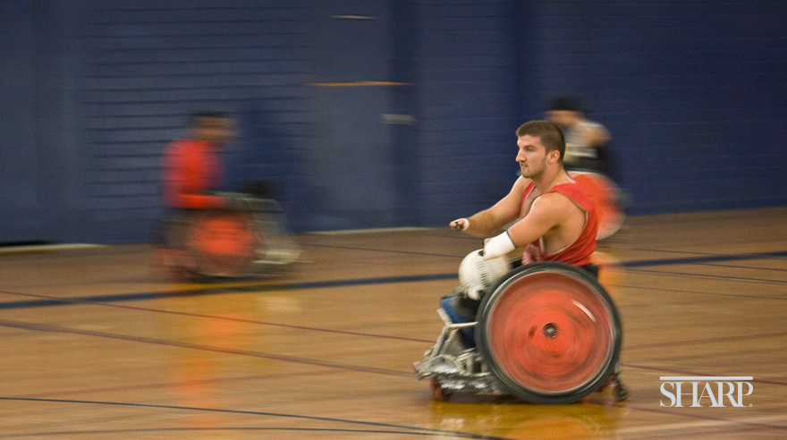 Sharp wheelchair rugby team headed to Paralympics