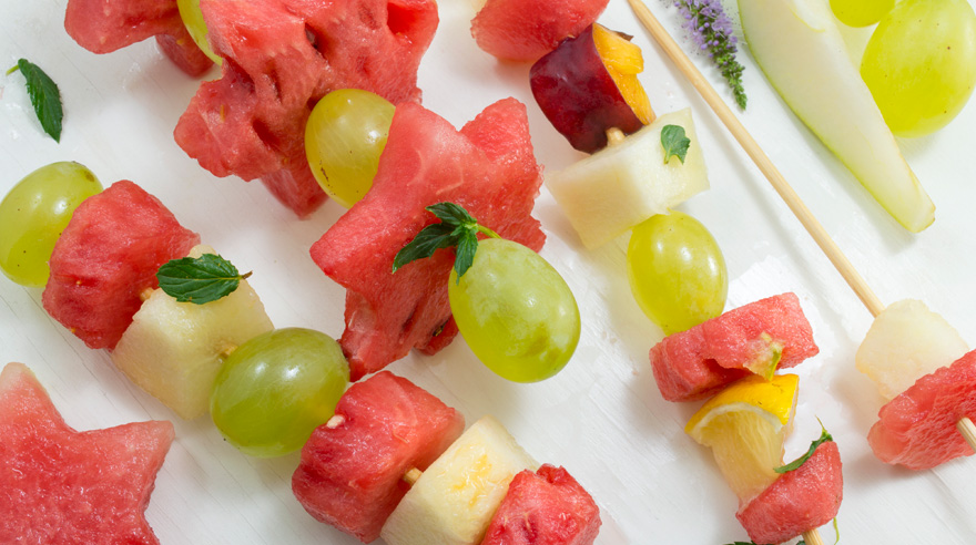 Wonderful watermelon kebabs (recipe)