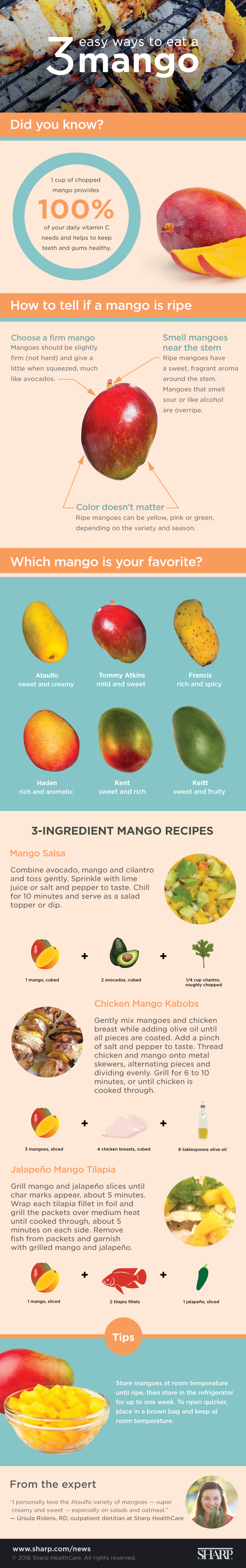 3 easy ways to eat a mango (infographic)