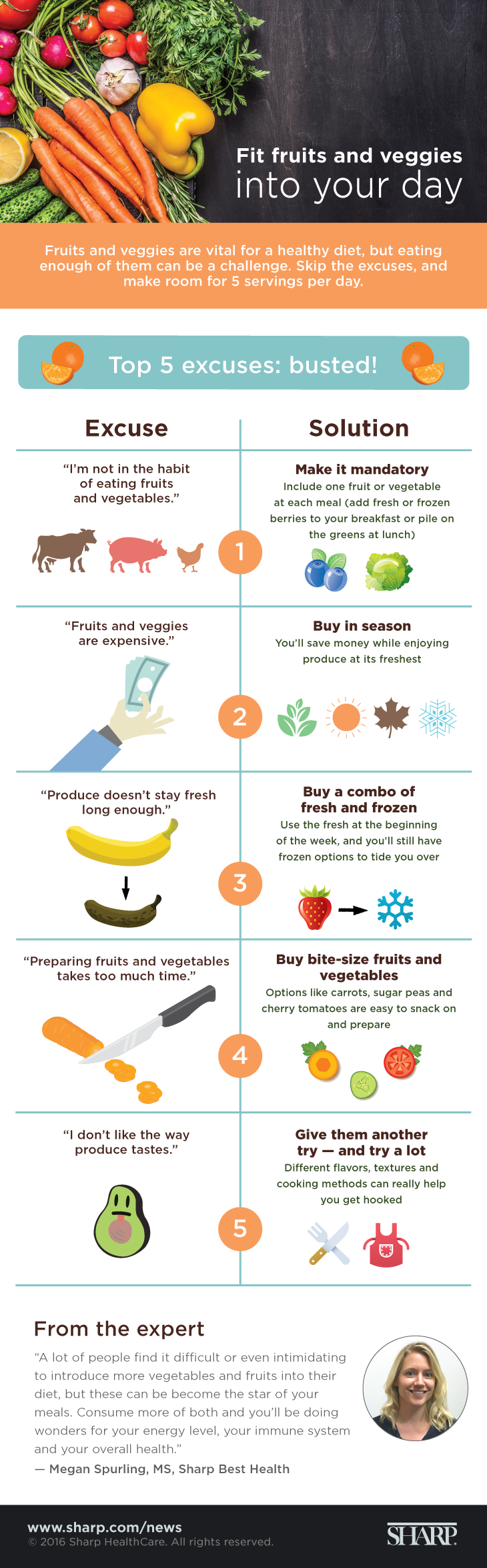Fit fruits and veggies into your day (infographic)