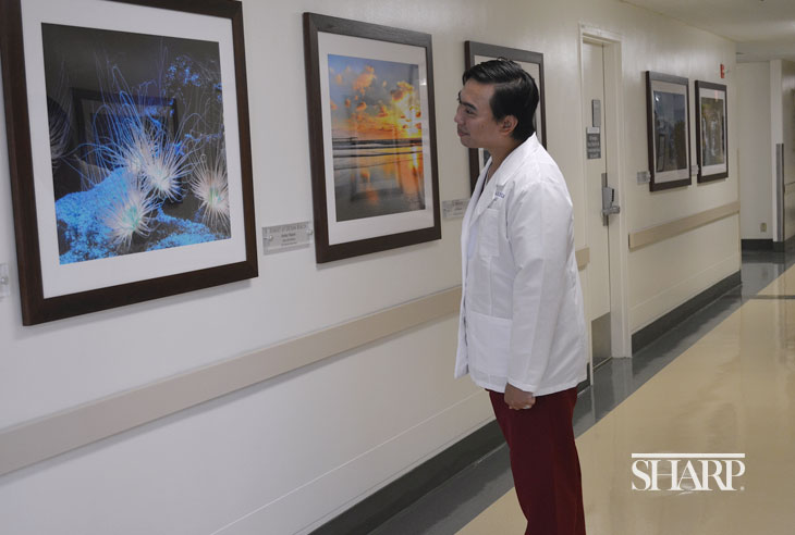 Sharp Grossmont Hospital showcases the artistic talents of its caregivers and staff.